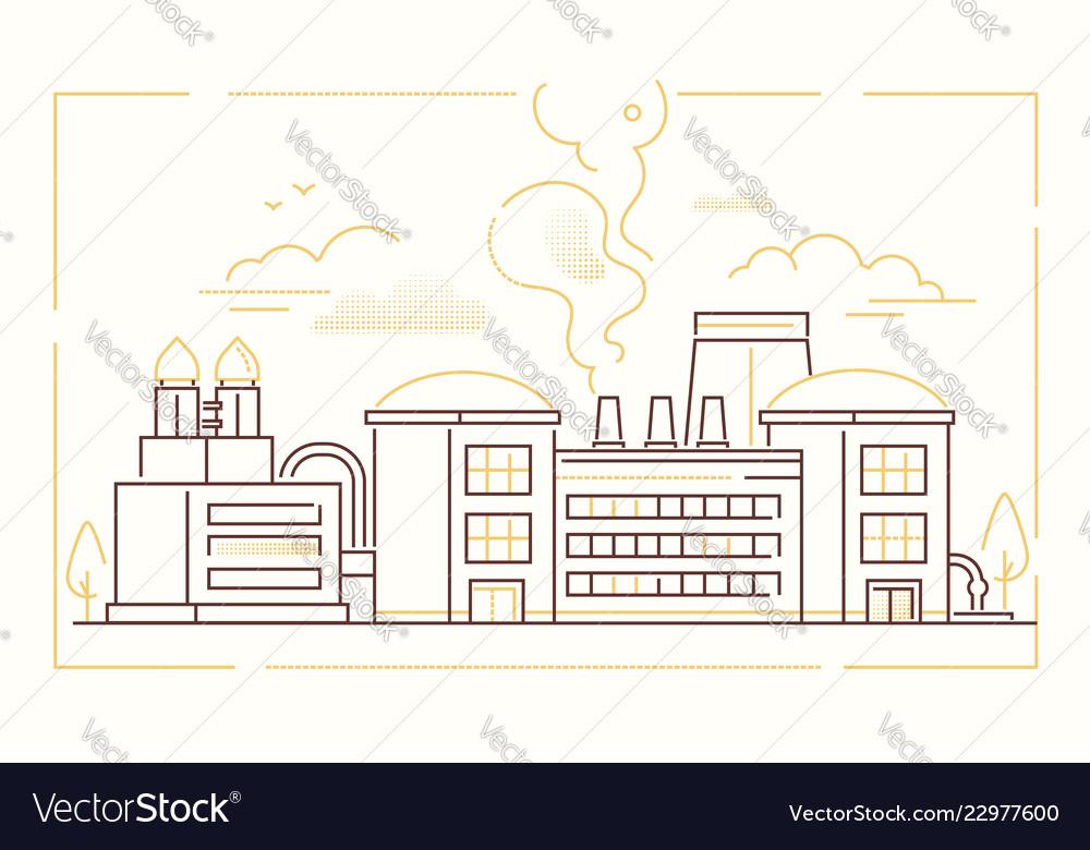 Factory - modern line design style