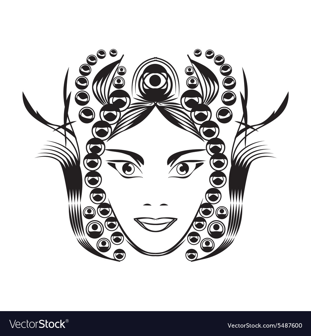 Fantasy woman vector image