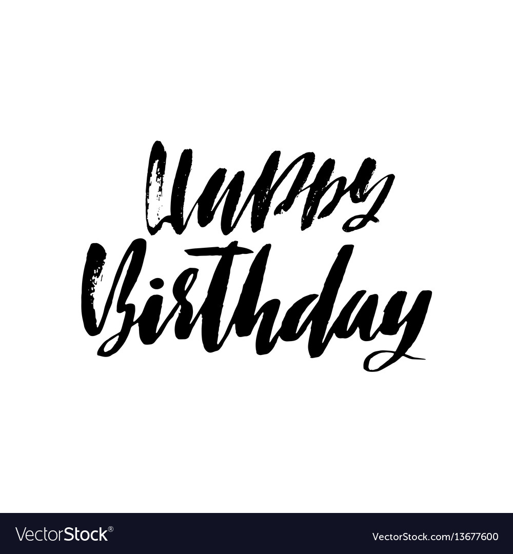 Happy birthday lettering for invitation and