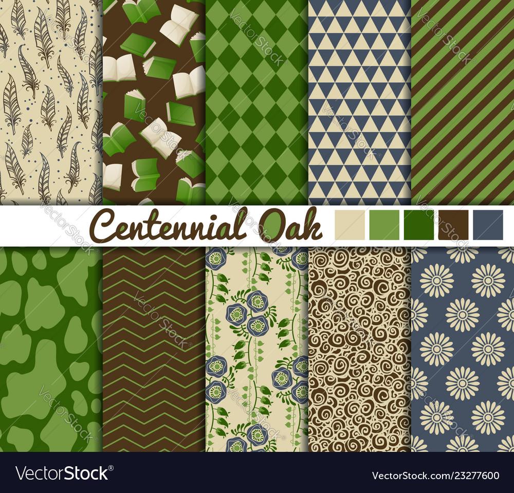 Set 10 simple seamless patterns