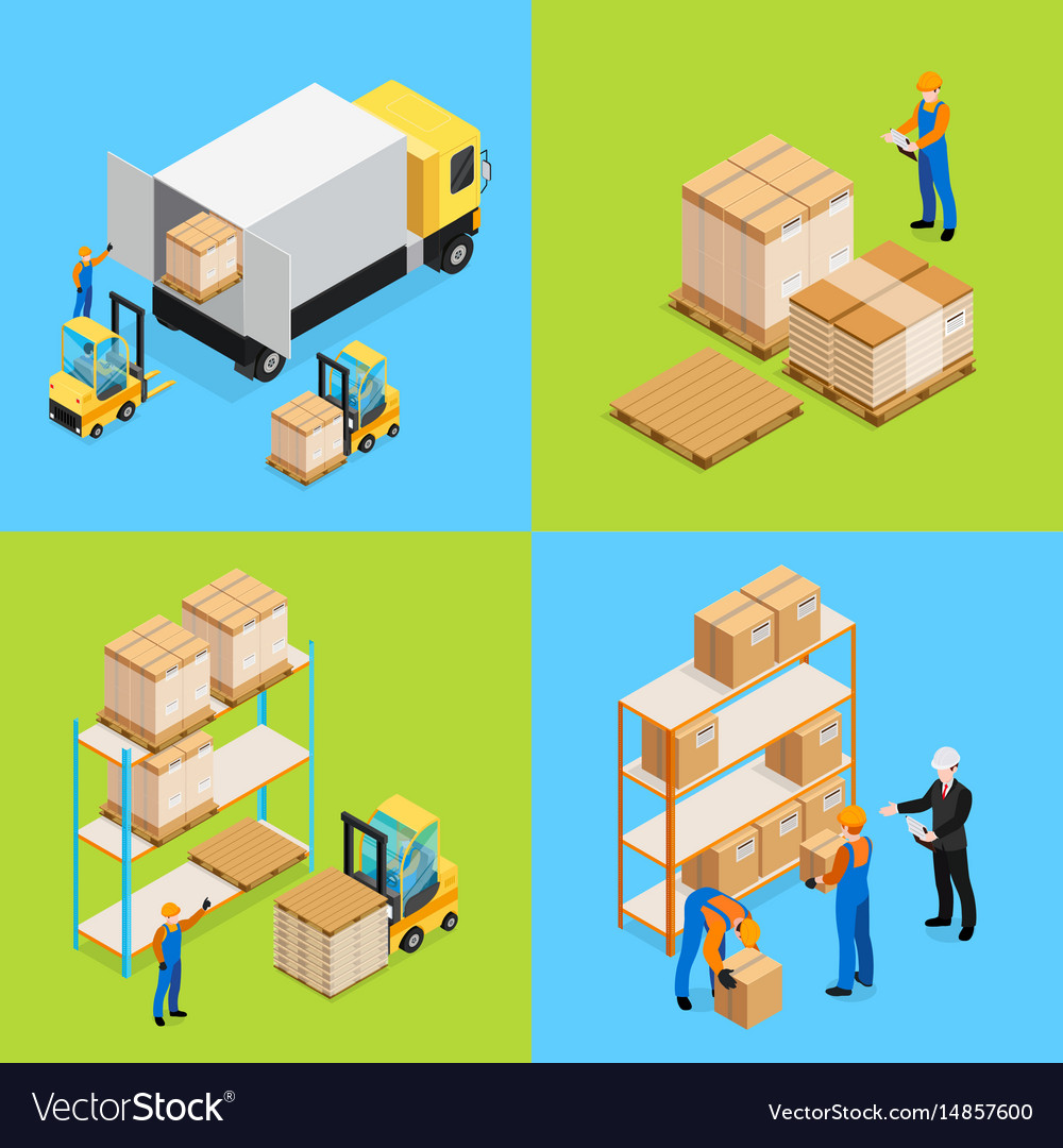 Warehouse isometric compositions