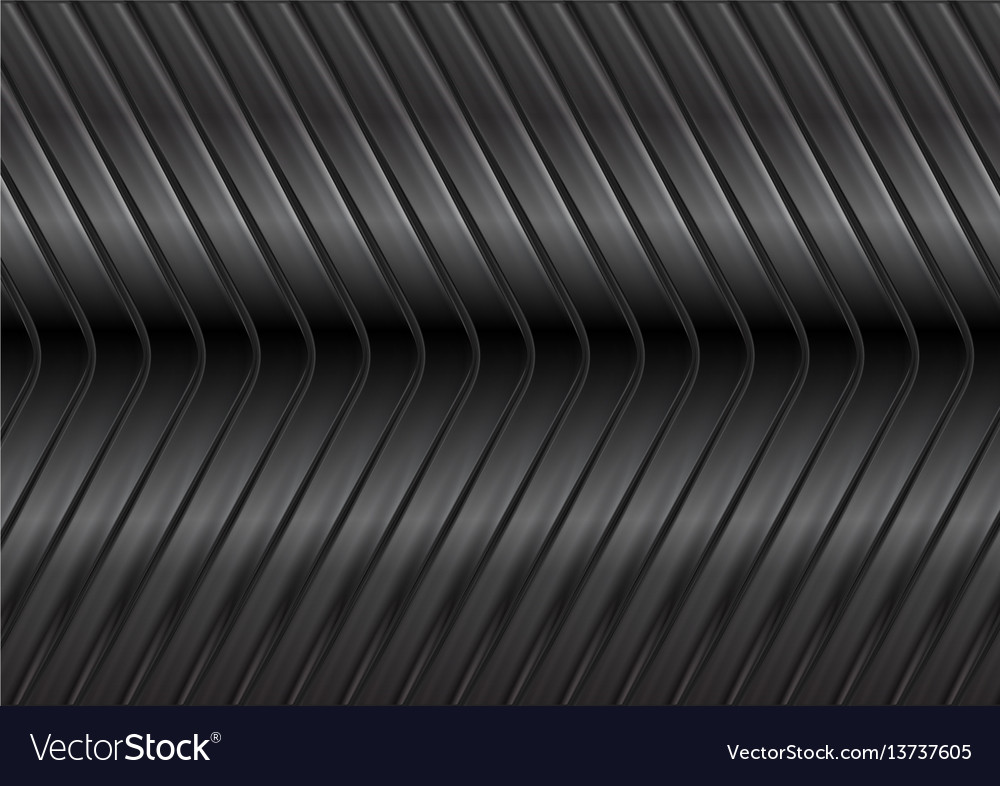 Black glossy metal arrows background vector image
