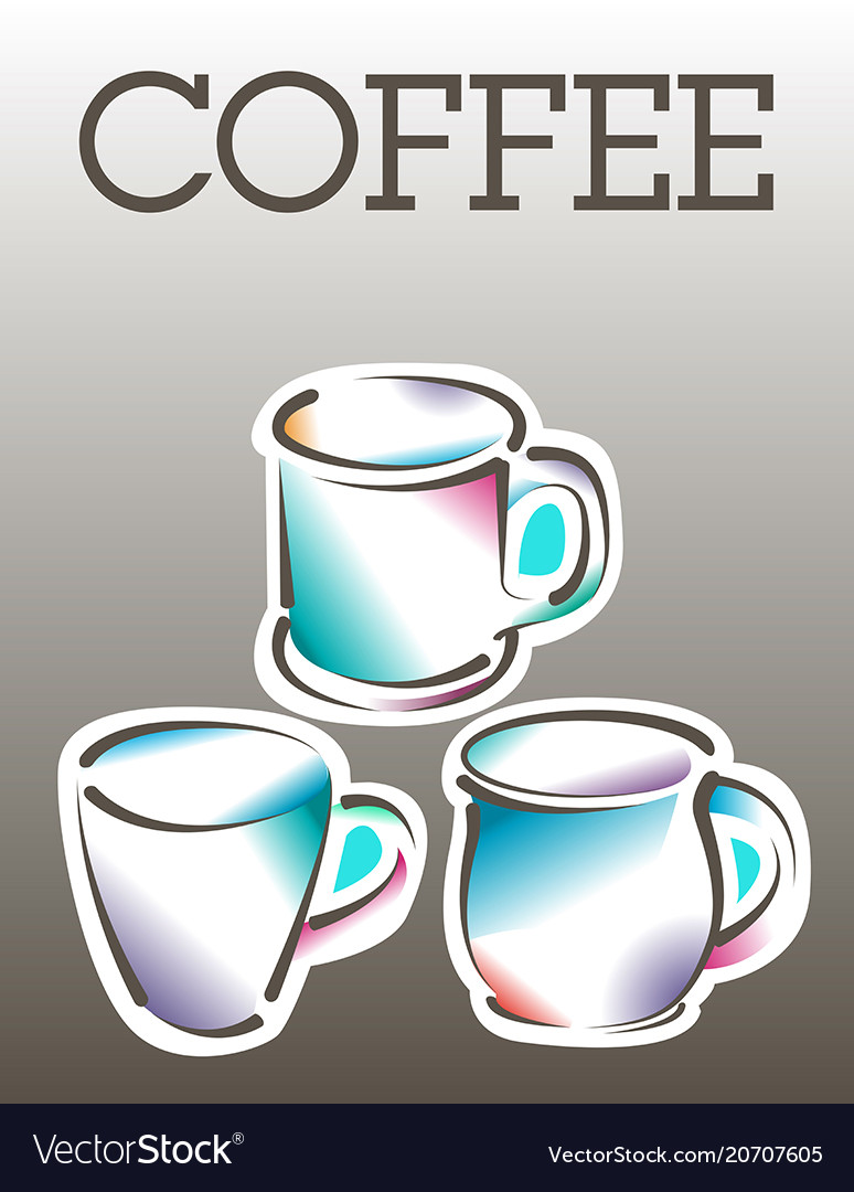 cool coffee poster template royalty free vector image