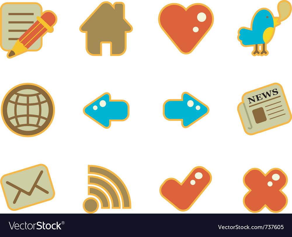 Cute icon website vector image
