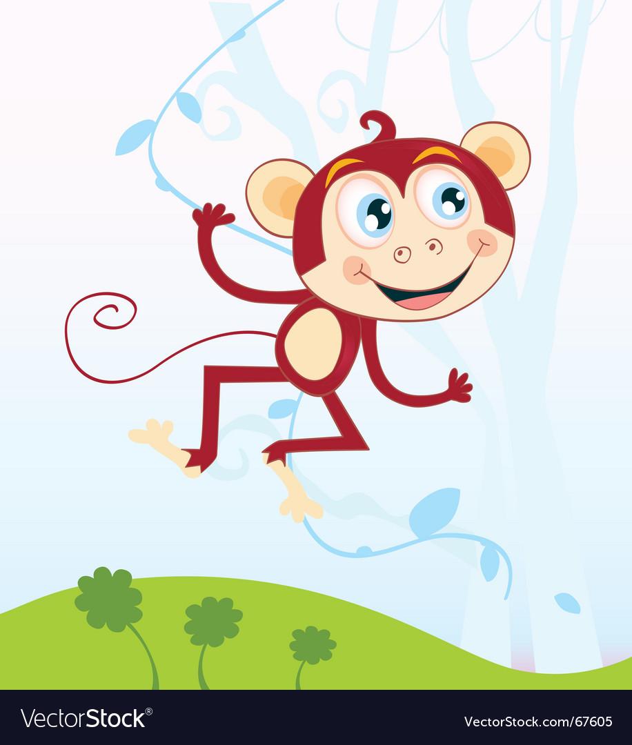 Jungle monkey vector image