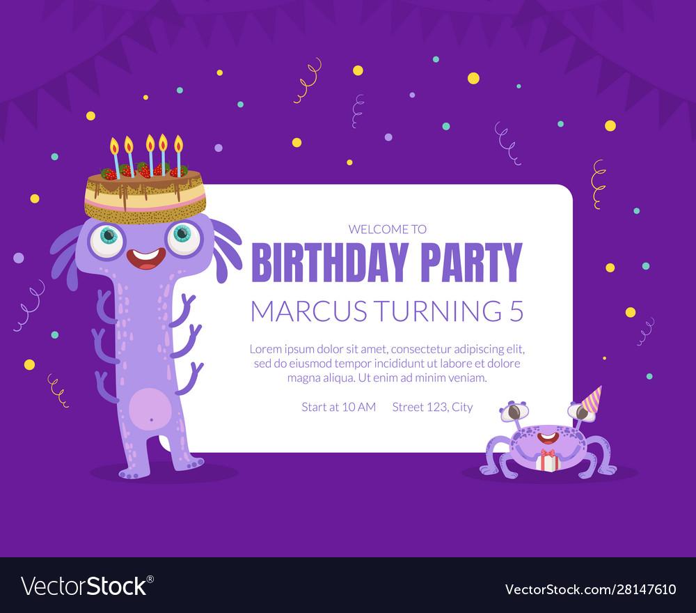 Birthday party invitation on