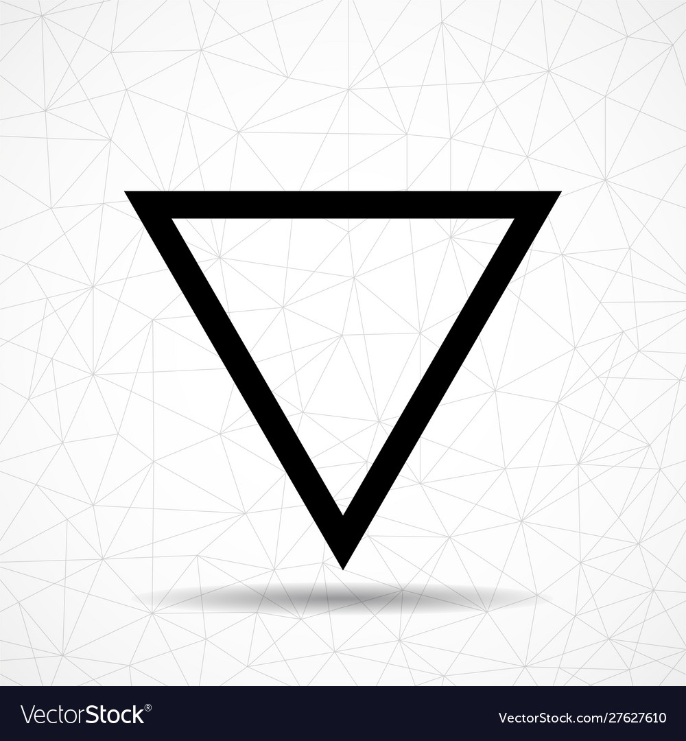 Black abstract triangle logo isolated on white