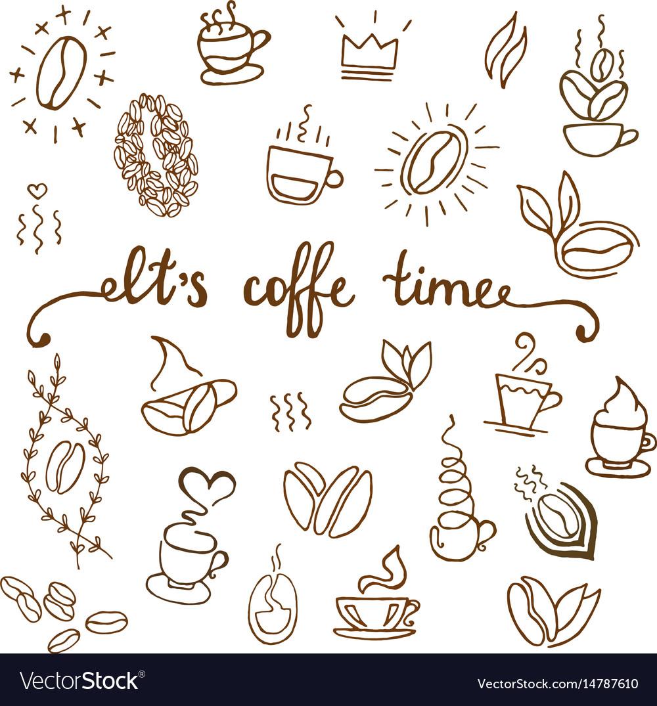 Coffee icons set coffee shop vector image