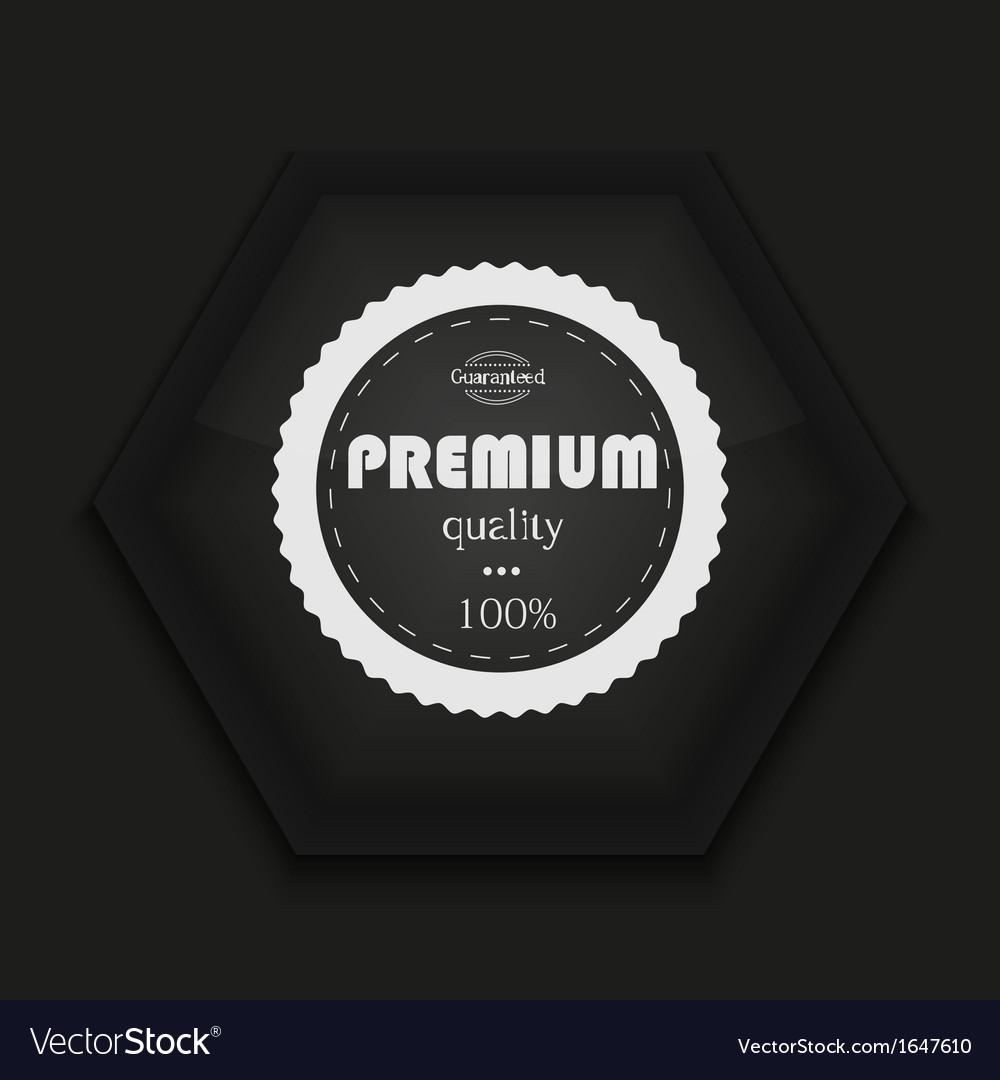 Creative icon on black background Eps10