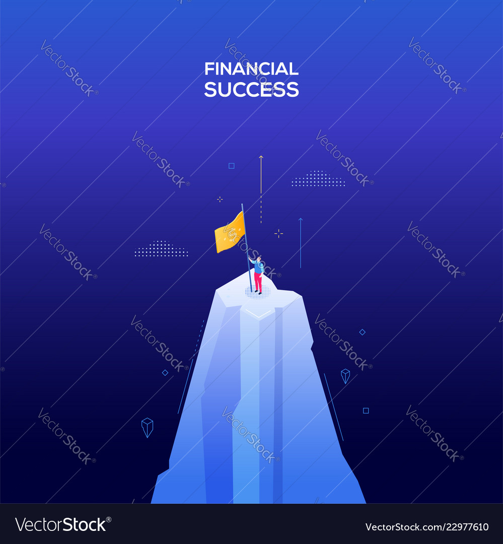 Financial success - modern isometric web