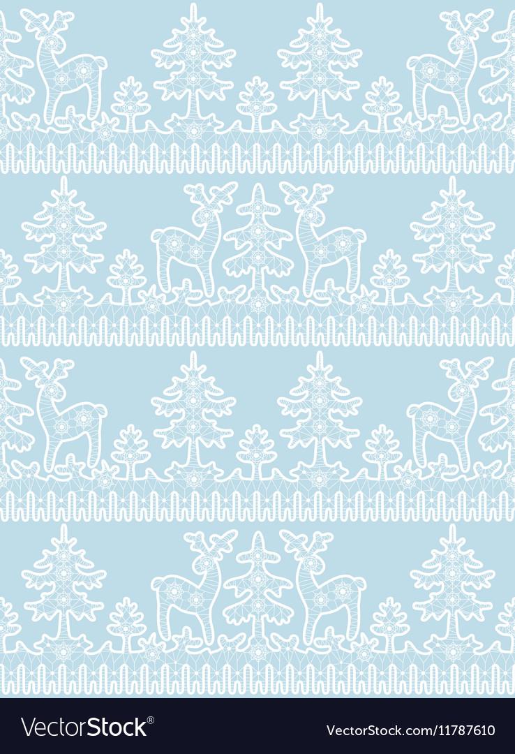 Lace deer pattern