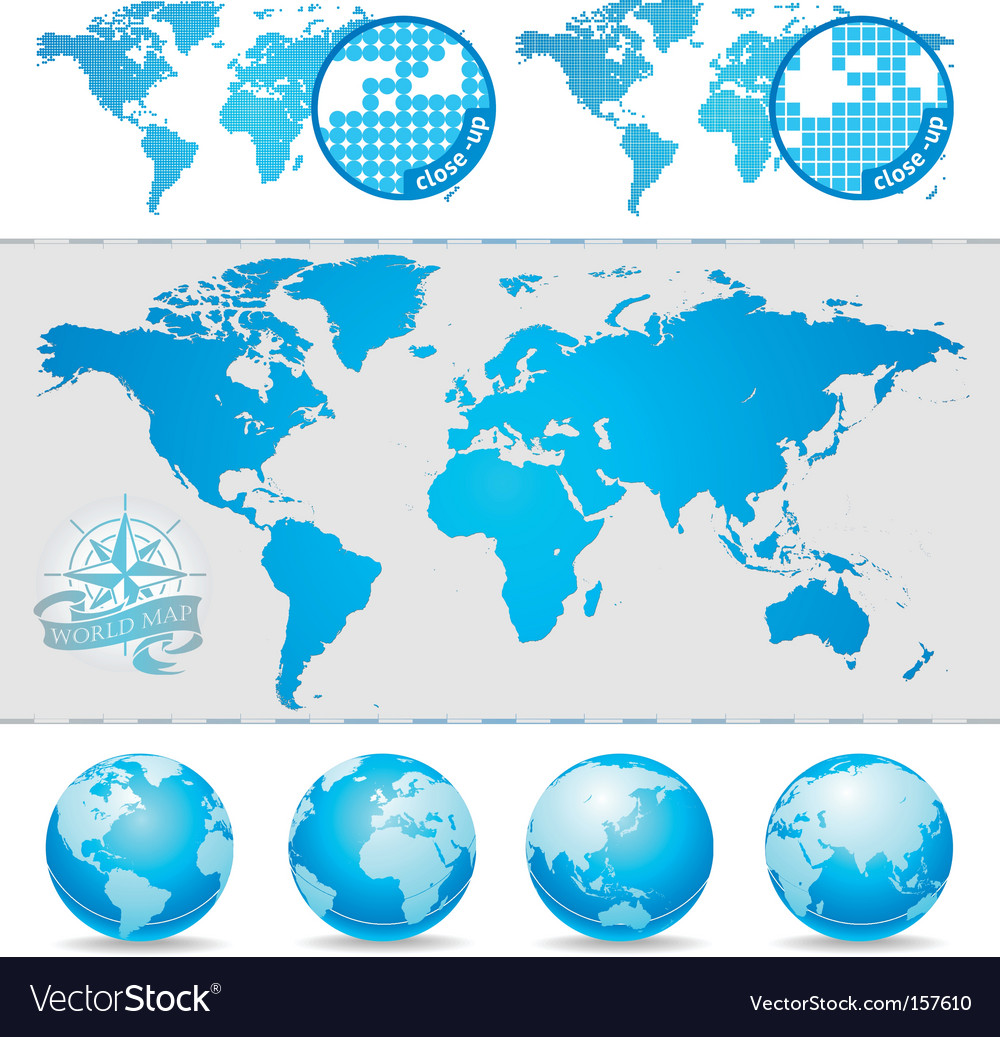 World maps and globe royalty free vector image world maps and globe vector image gumiabroncs Choice Image