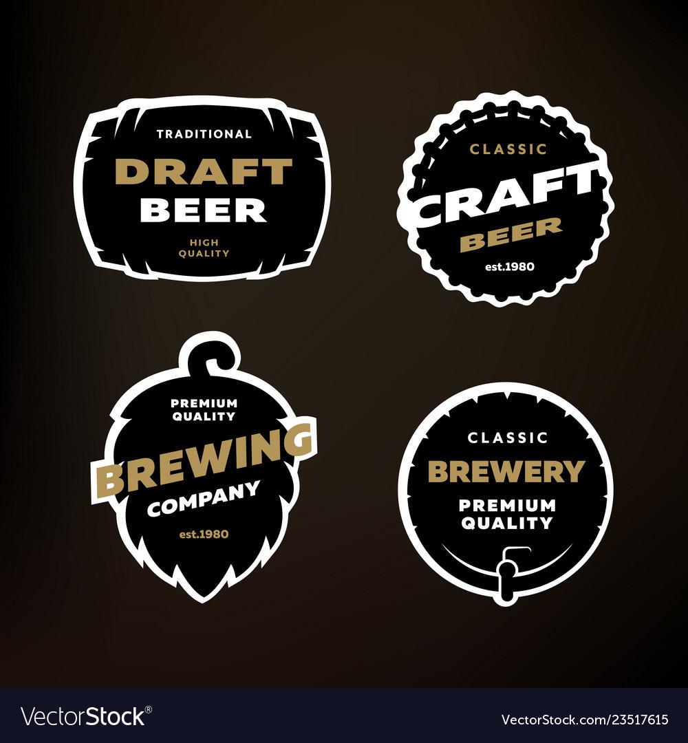 A set emblems logos on theme brewing on
