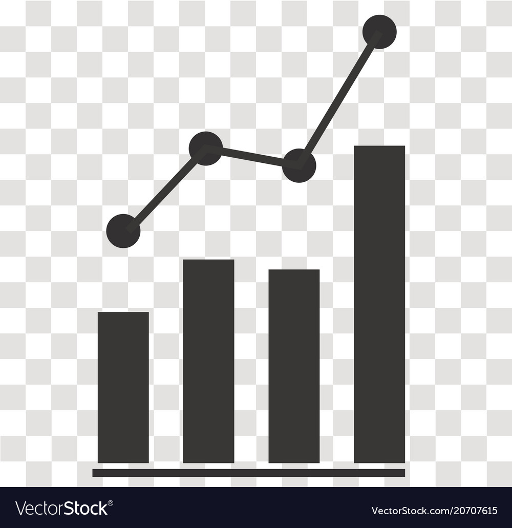 Analytics icon on transparent analytics sign