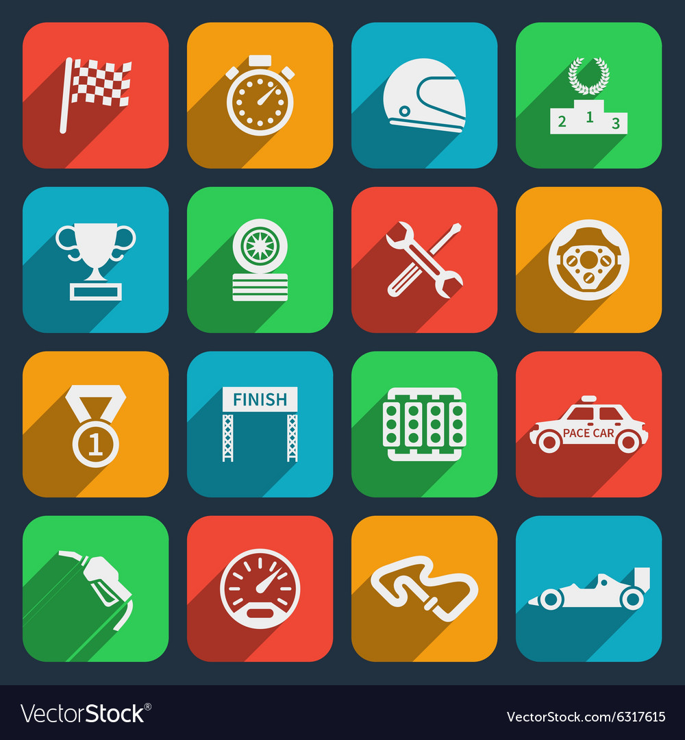 Car tools and car race icons