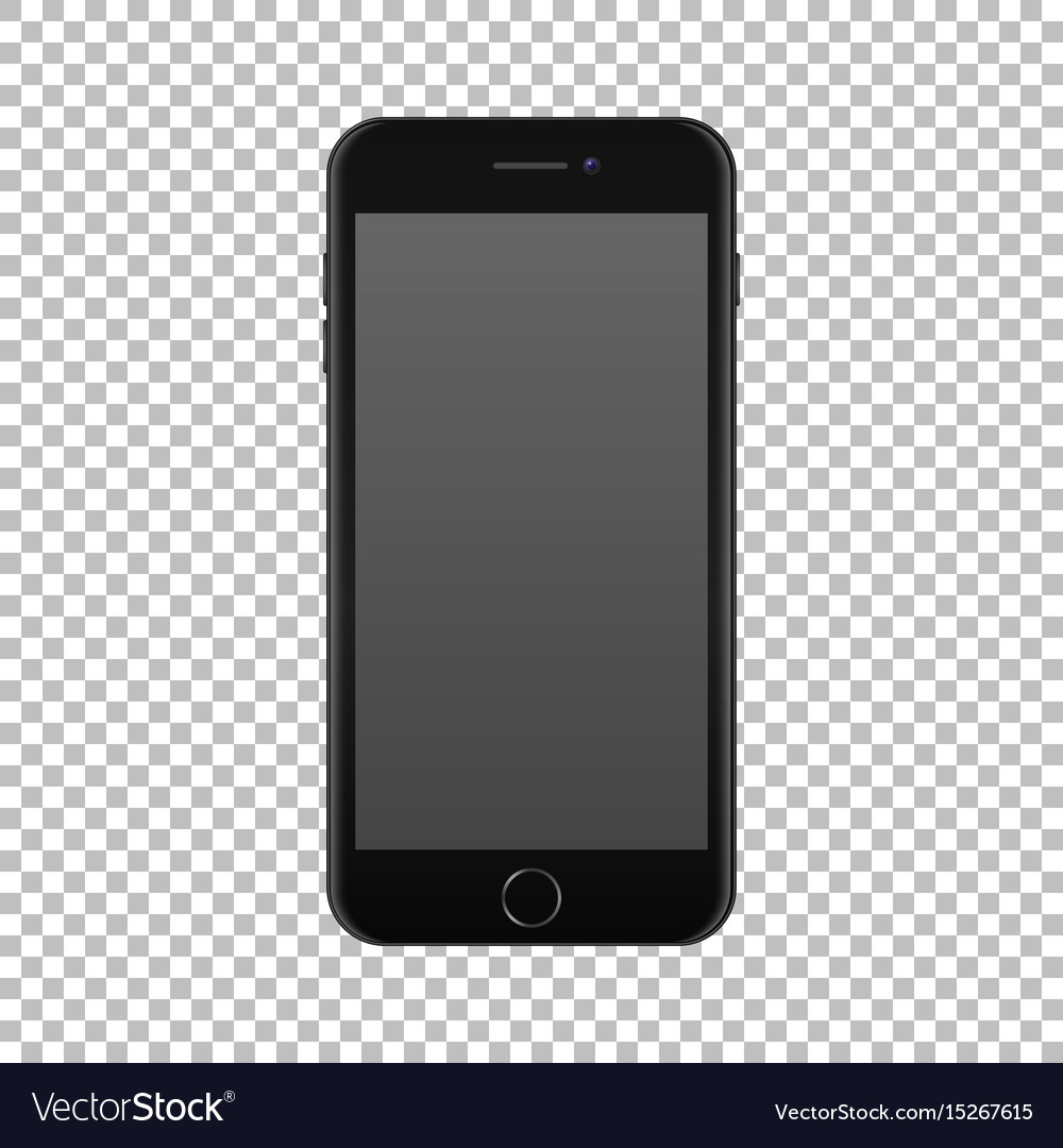 Realistic smartphone icon isolated on transparent