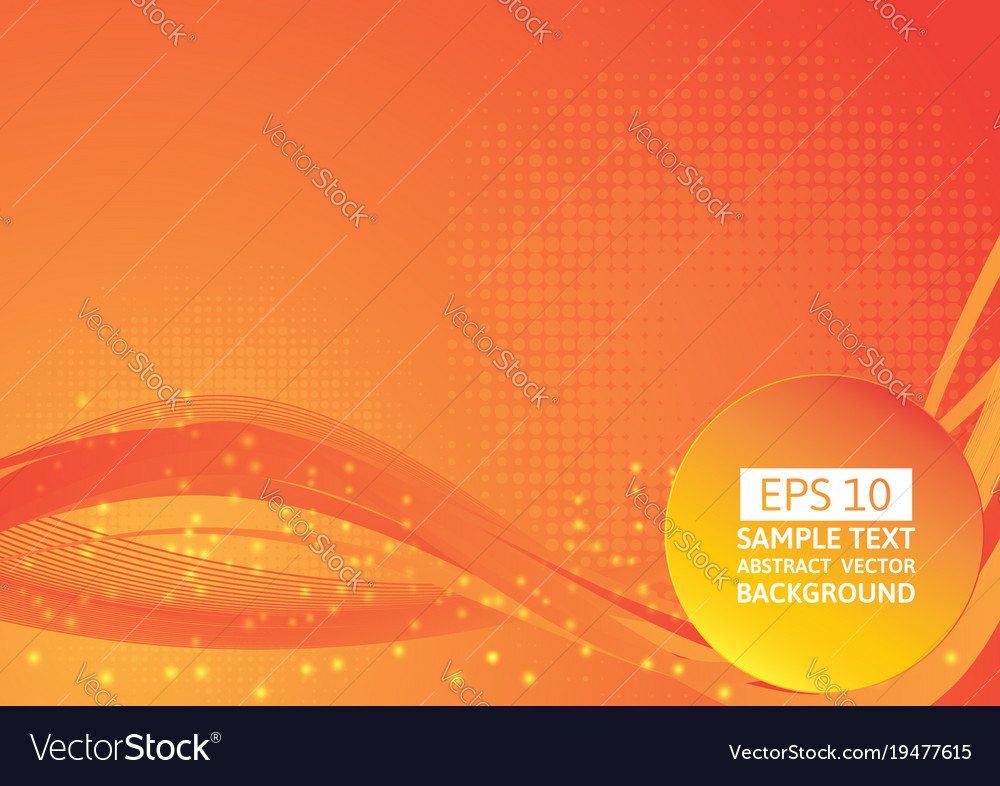 Red And Orange Color Wave Abstract Background