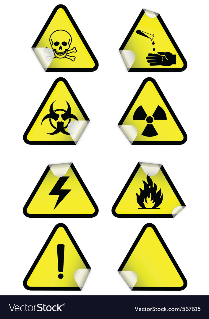 Set chemical warning signs