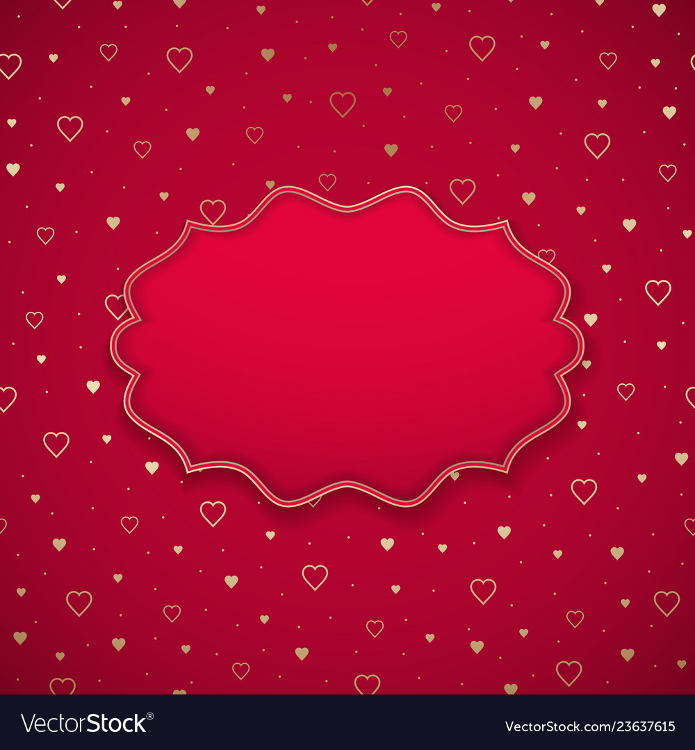The valentine day frame on a heart patern