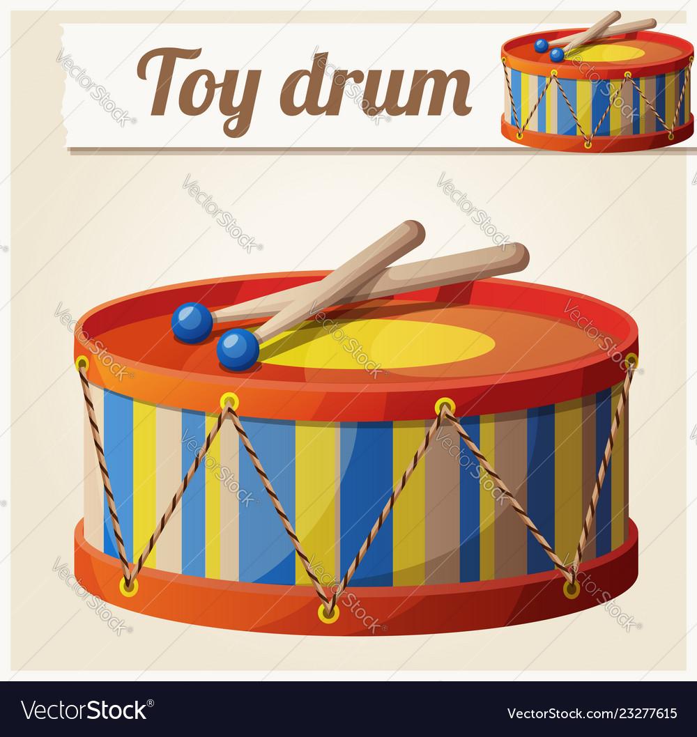 Vintage toy drum 2 cartoon