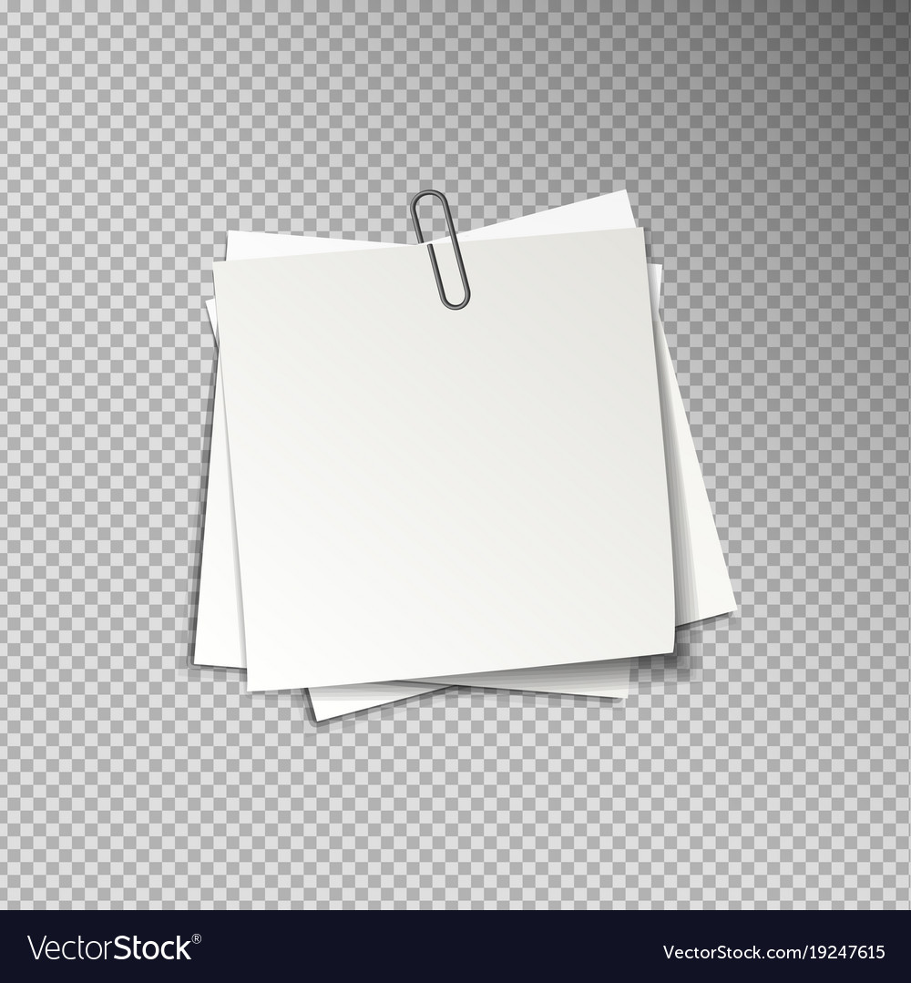 white sheets of pinned note papers royalty free vector image