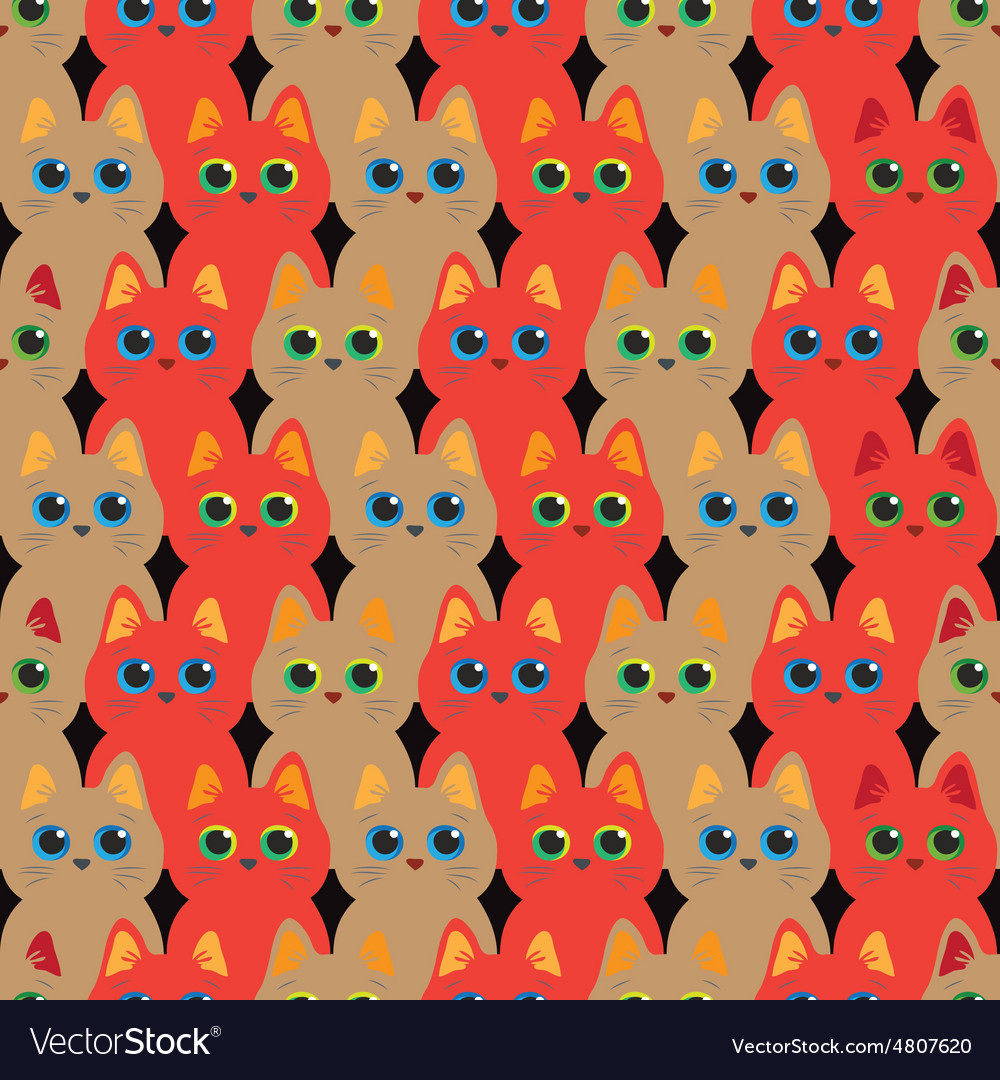 Cats seamless abstract pattern