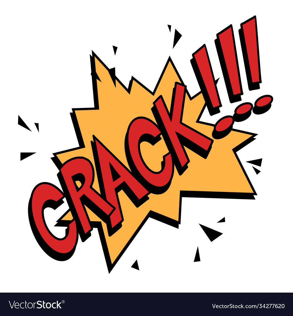 Crack comics text