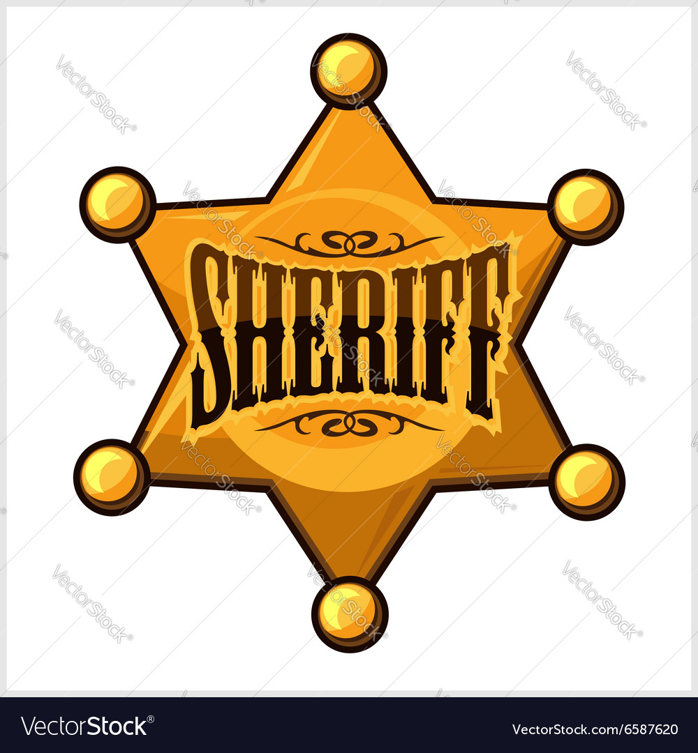 golden sheriff star badge royalty free vector image rh vectorstock com sheriff badge clipart vector deputy sheriff badge vector