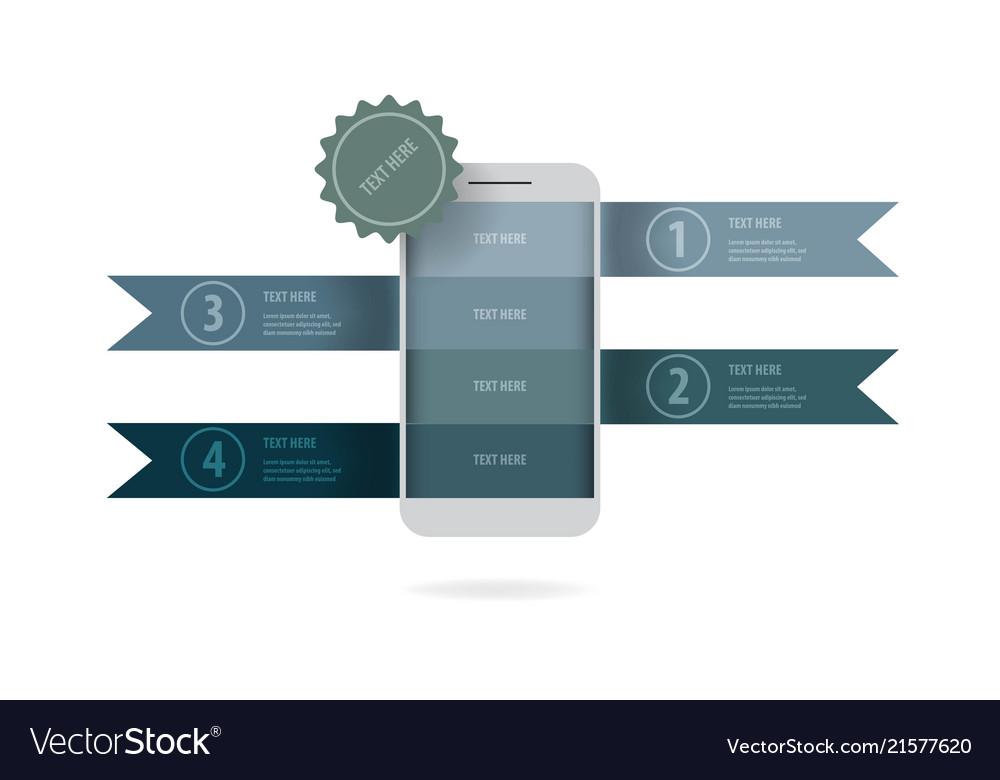 Mobile phone business data presentation template