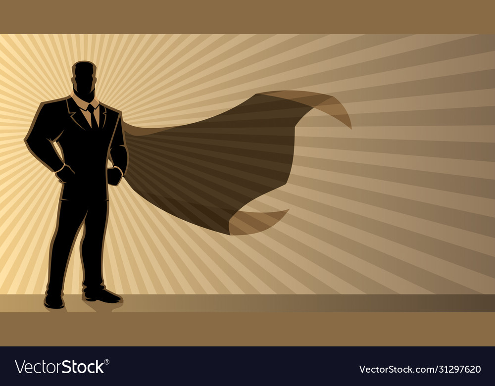 Super businessman background