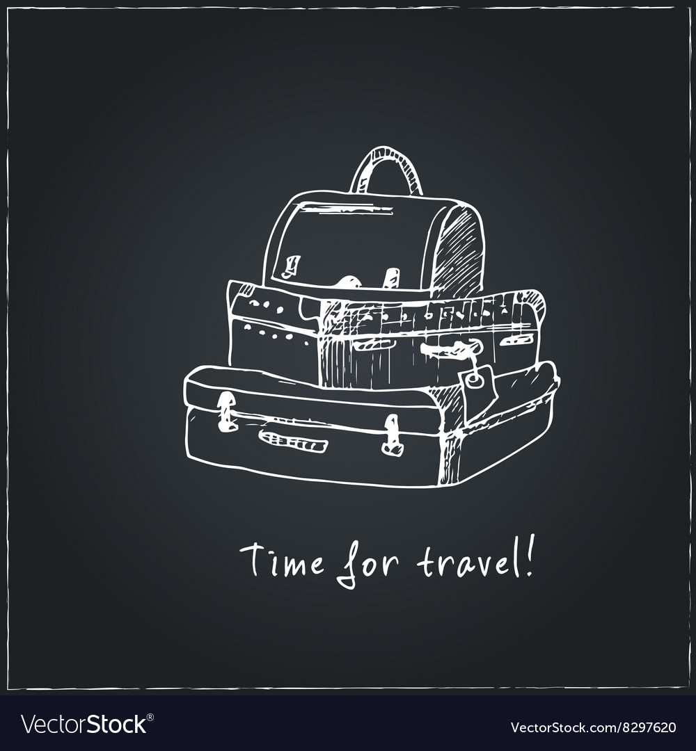 Time to travel Motivational travel poster with