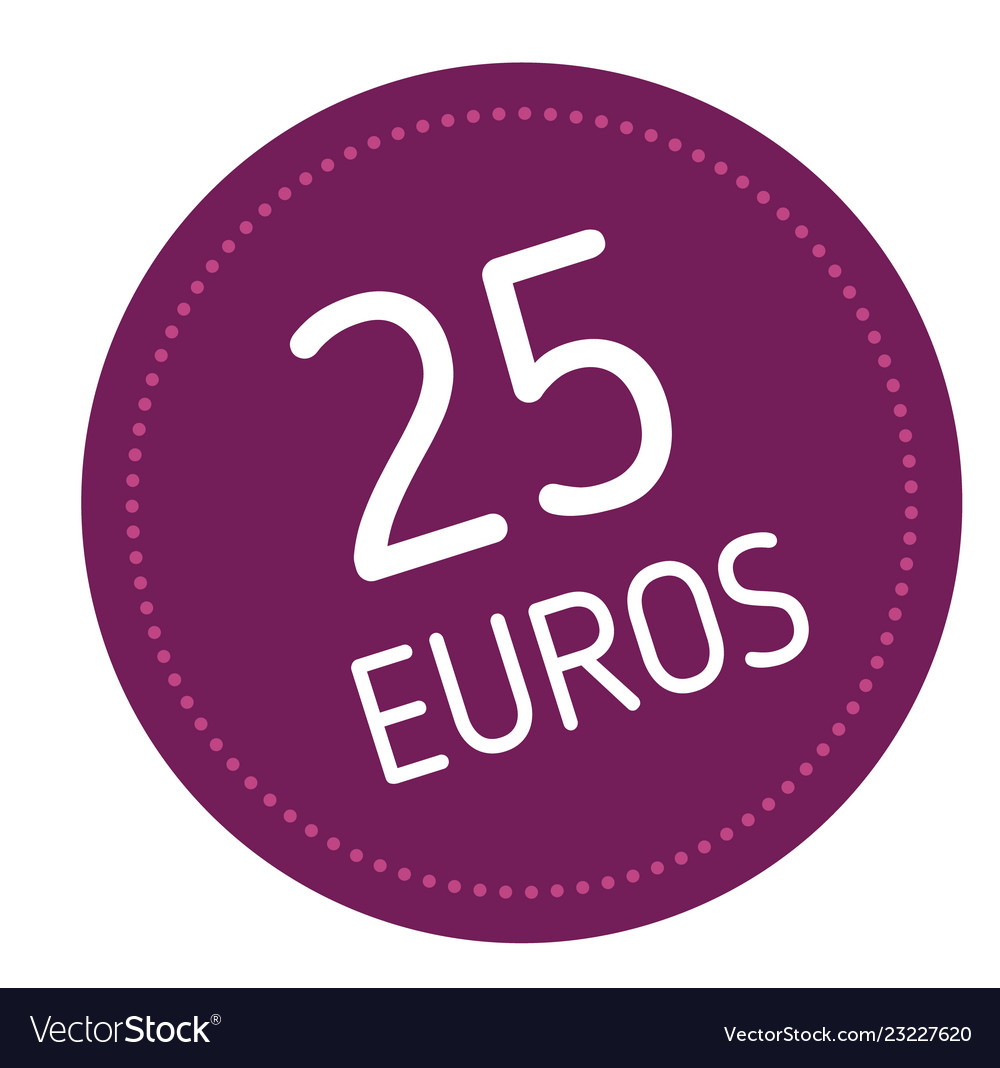 Twenty five euros advertising sticker