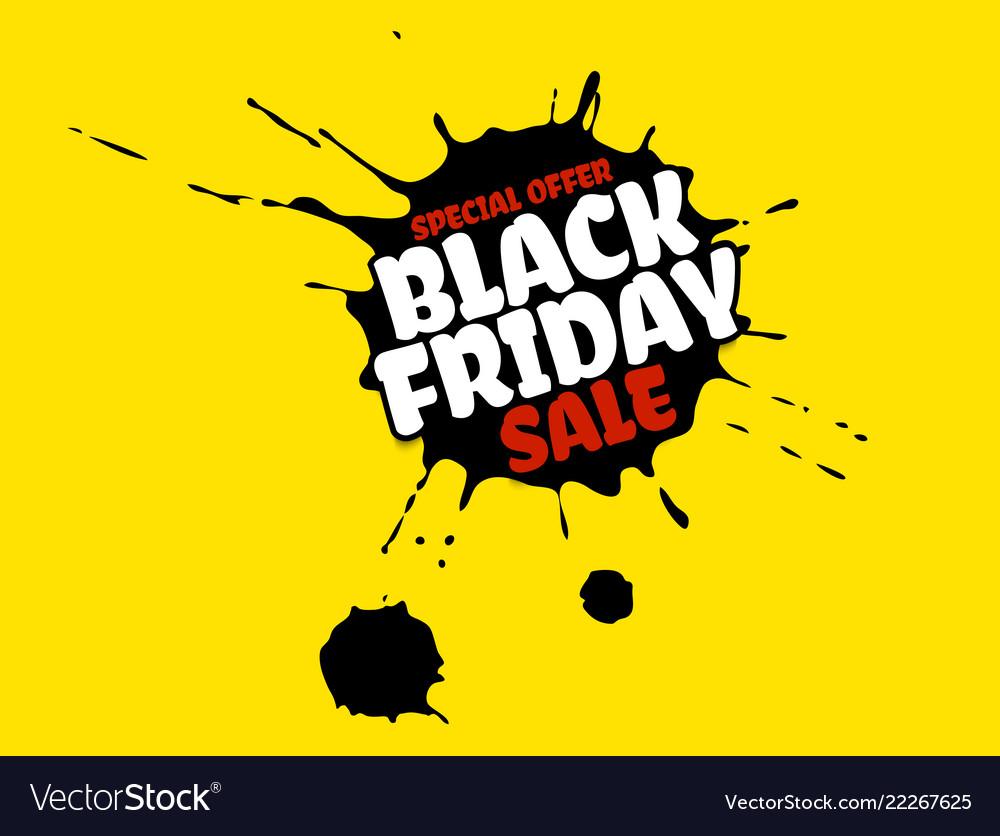 Black friday sale grunge poster red special offer