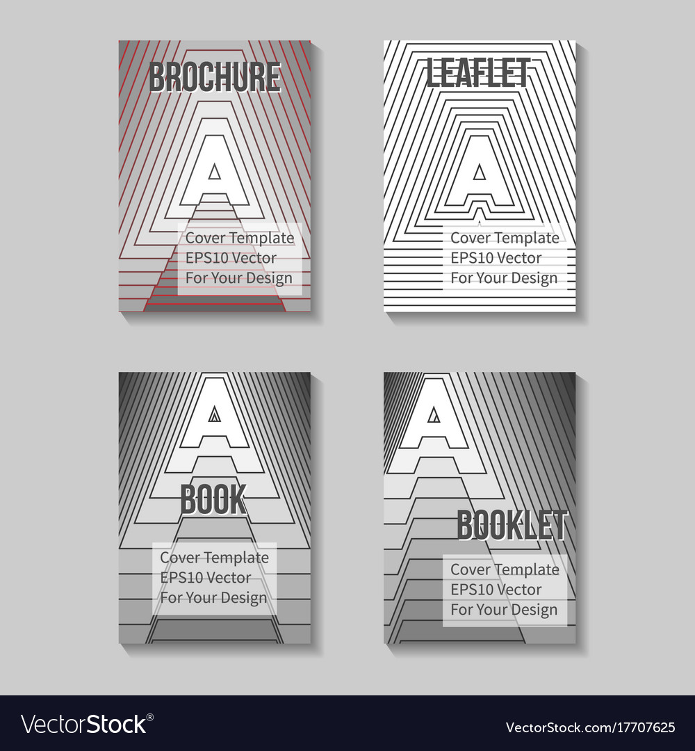 Book title page template business report cover vector image flashek Image collections