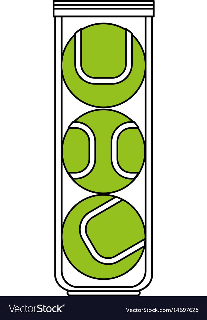 Color silhouette cartoon green tennis balls