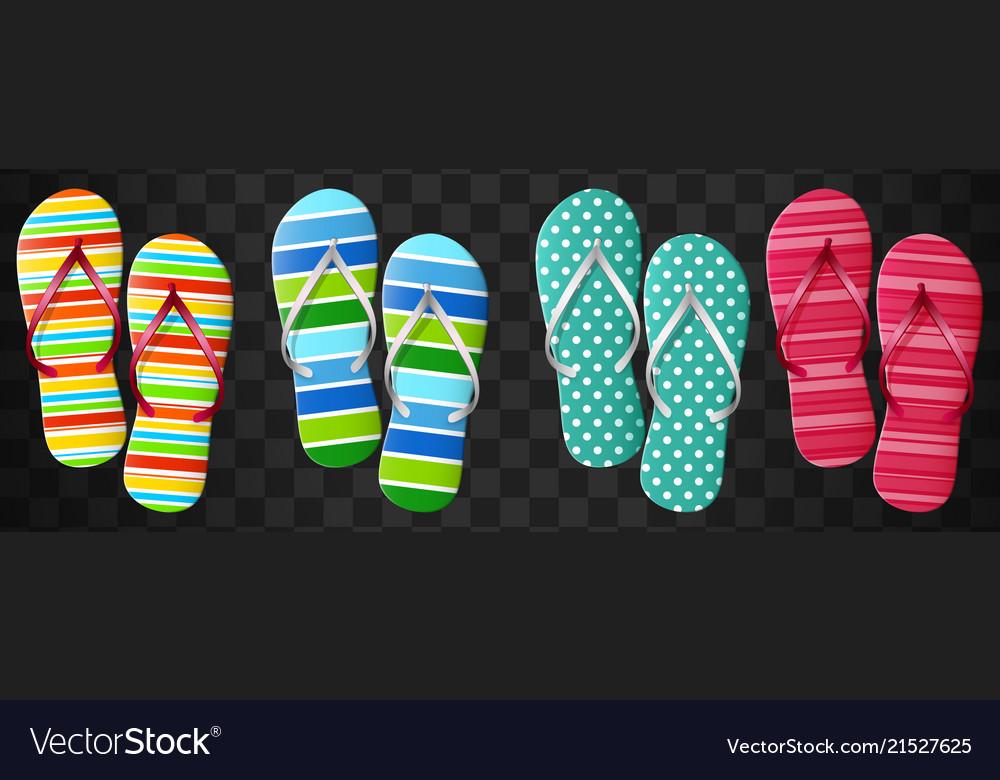 Flip flops set isolated design