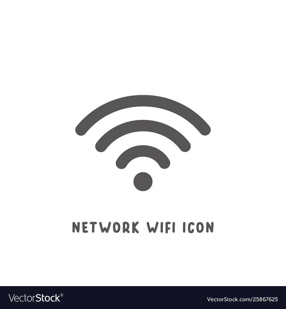 Network wifi icon simple flat style