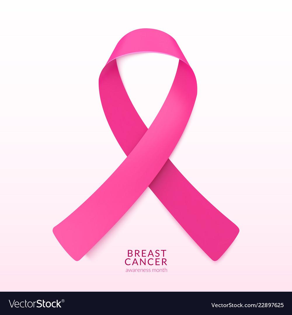 Pink ribbon banner