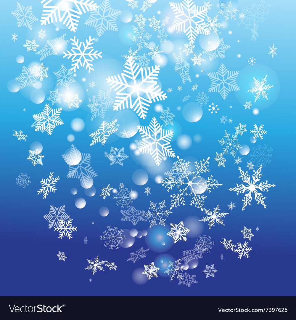 Retro winter watercolor background with different vector image