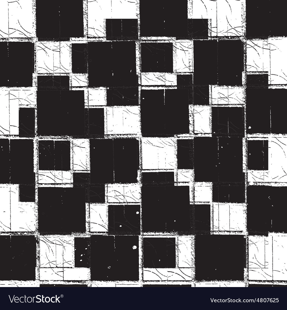 Texture Checker Grunge vector image