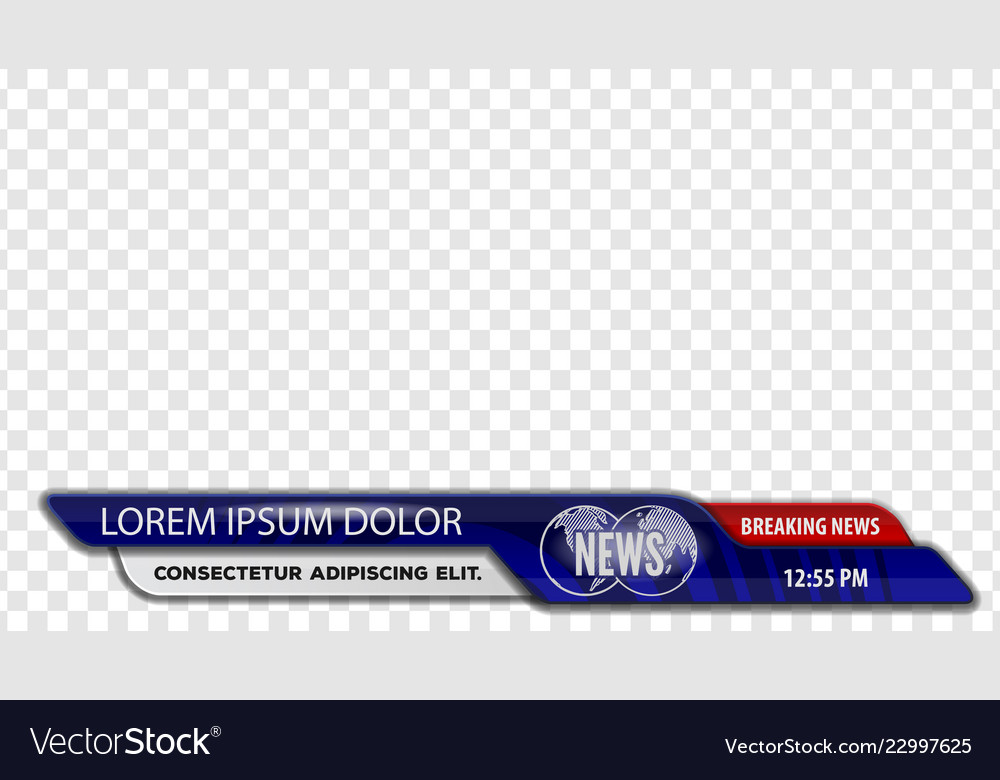 tv news bars or lower third template royalty free vector
