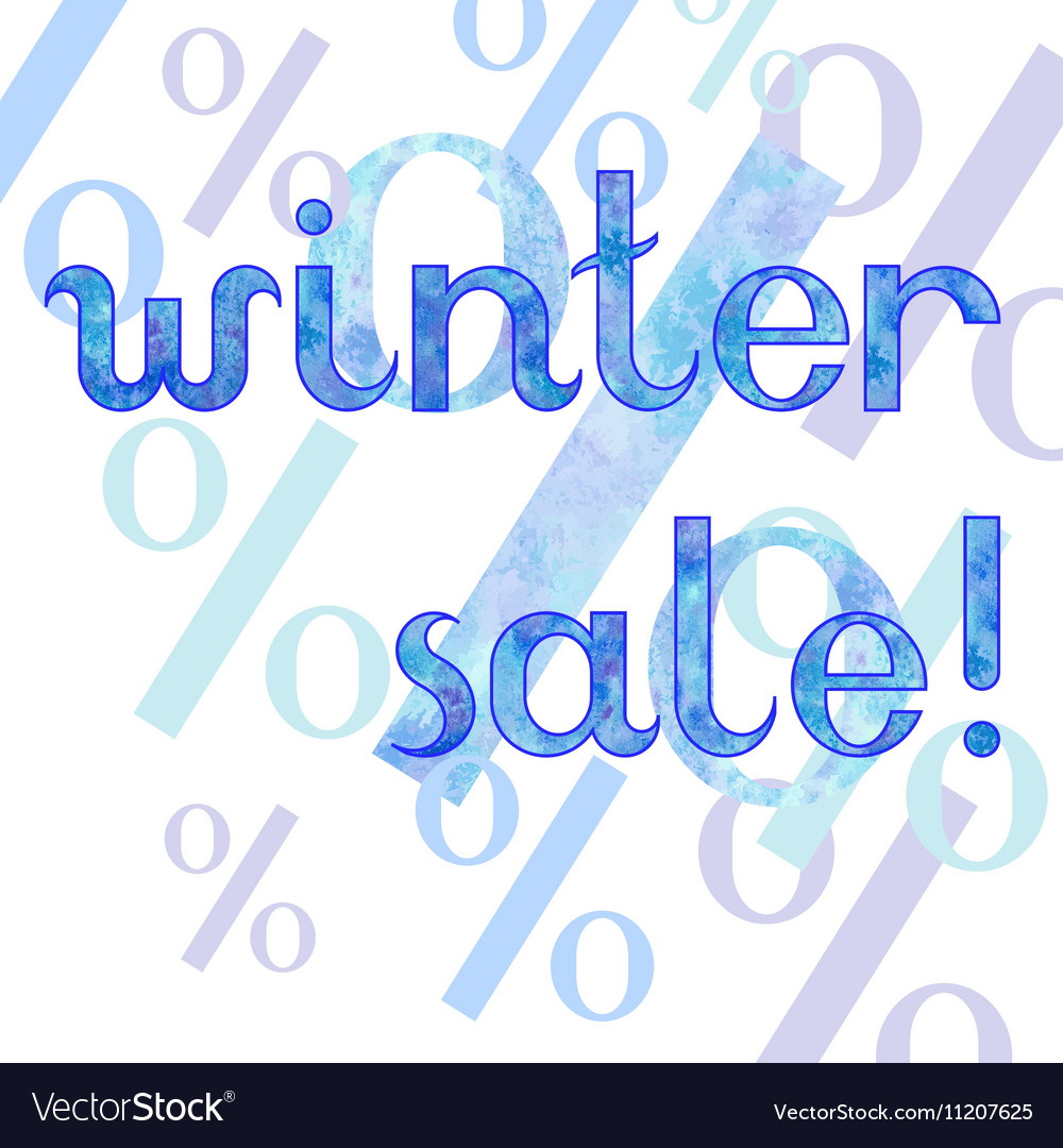 Winter sale shopping advertising