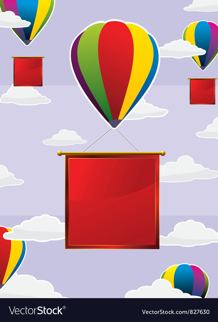 Balloons Frame Square Royalty Free Vector Image