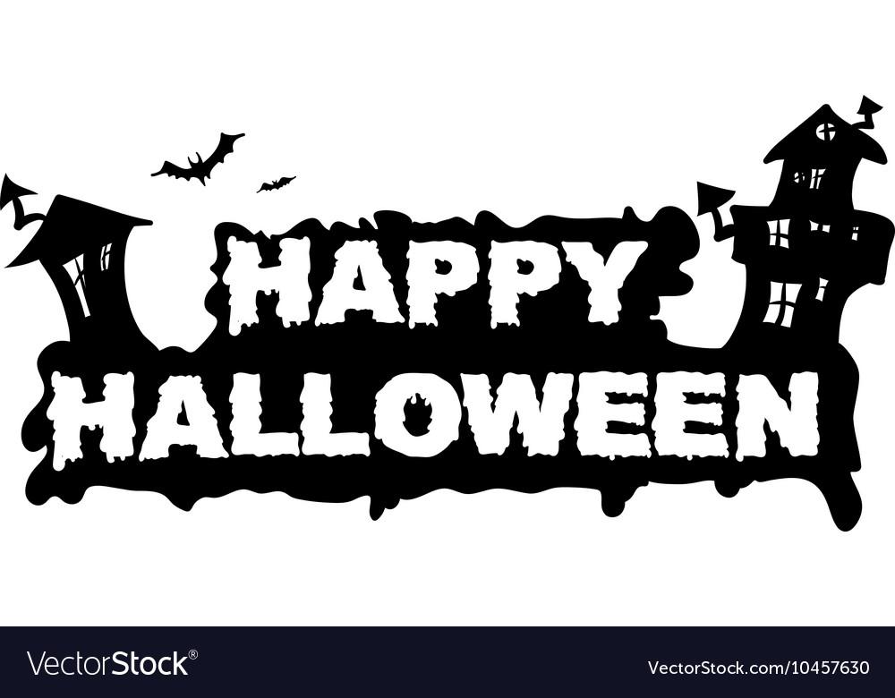 Happy Halloween House vector image