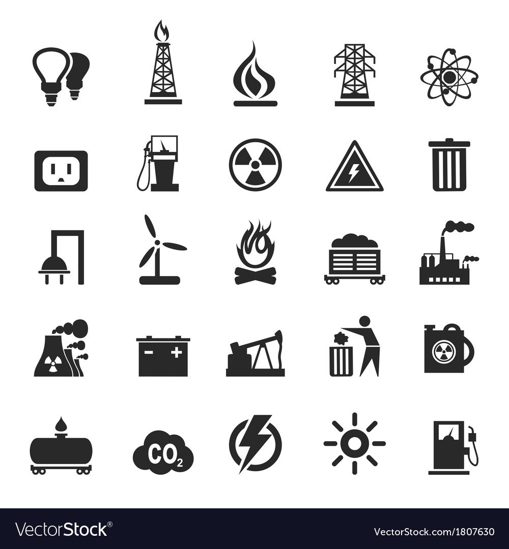 Industrial icons3 vector image