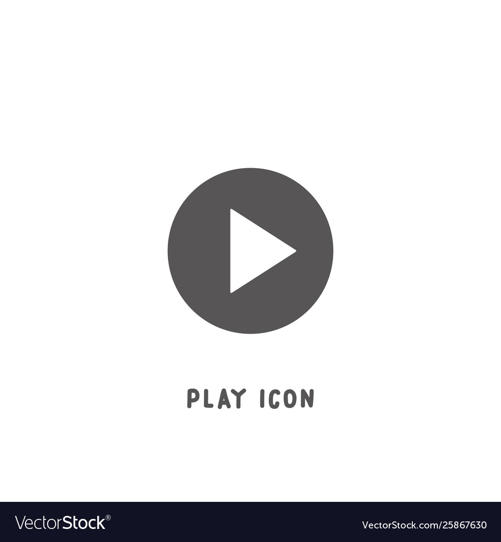 Play icon simple flat style