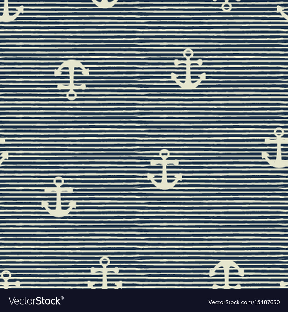 Seamless pattern of anchor and stripes