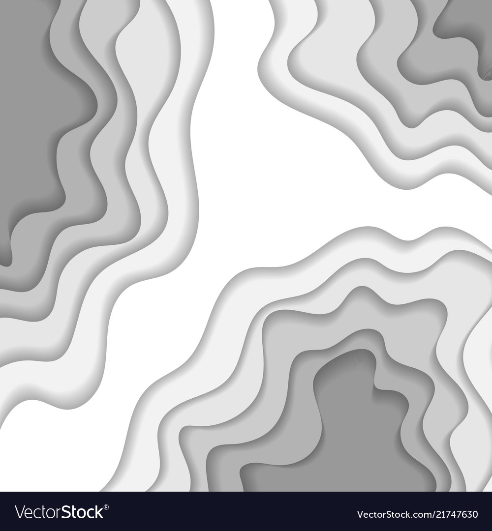 White paper waves background