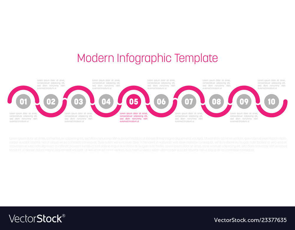 10 step process modern infographic diagram graph