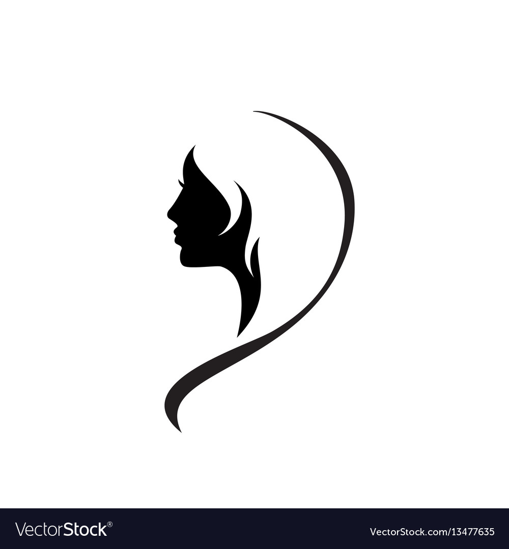 Beautiful Woman Face Icon Royalty Free Vector Image